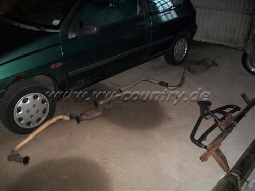 Renault Clio 1 / Auspuff