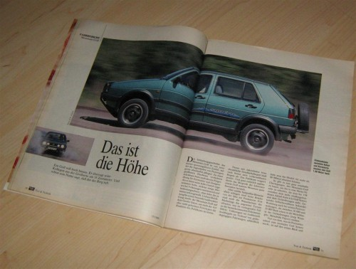 VW Golf Country in der AMS im Juni 1989