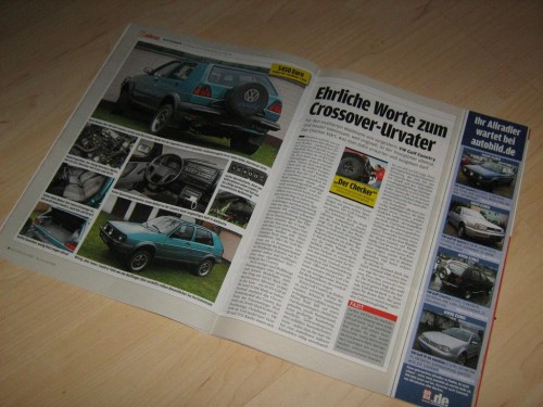 VW Golf Country in der Auto Bild Allrad 06/2008