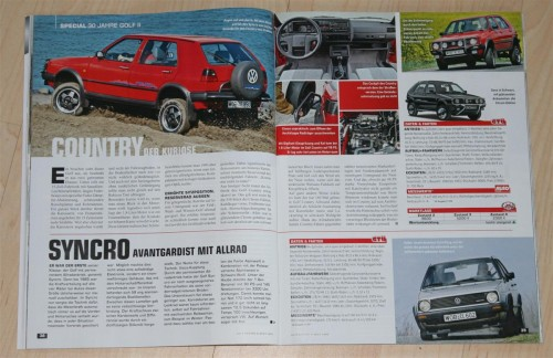 VW Golf Country in Autozeitung Classic Cars 11/2013