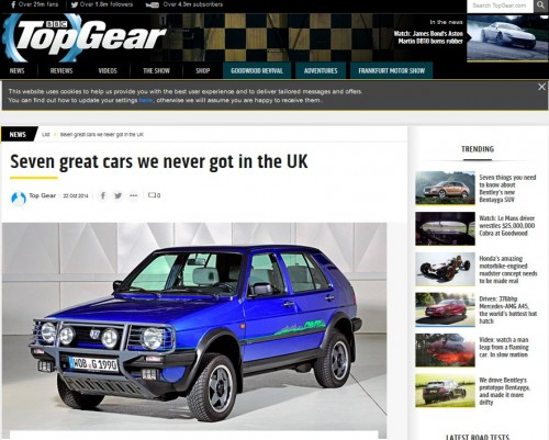 TopGear: Seven great cars we never got in the UK