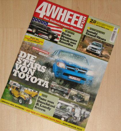VW Golf Country in der Zeitschrift 4 WHEEL FUN 11/2005