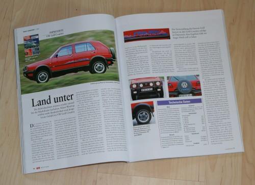 VW Golf Country in ´40 Jahre VW Golf in der auto motor und sport´