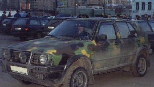 VW Golf Country in Moskau