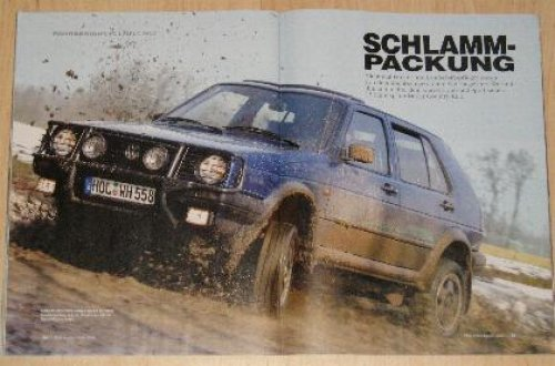 VW Golf Country in der YOUNGTIMER Spezial-Ausgabe 1/05 der Zeitschrift Motor Klassik