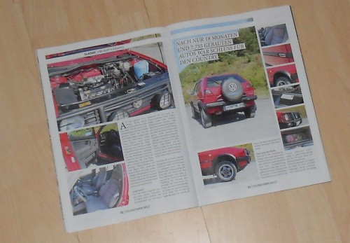 VW Golf Country in Yountimer Welt 2/2013